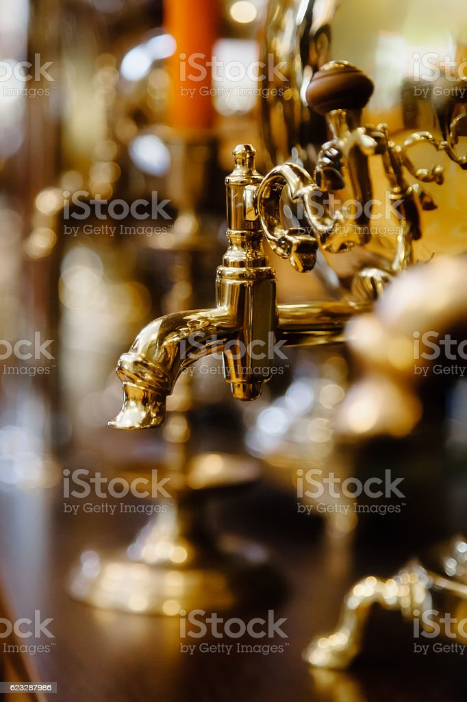 The spout of the samovar stock photo