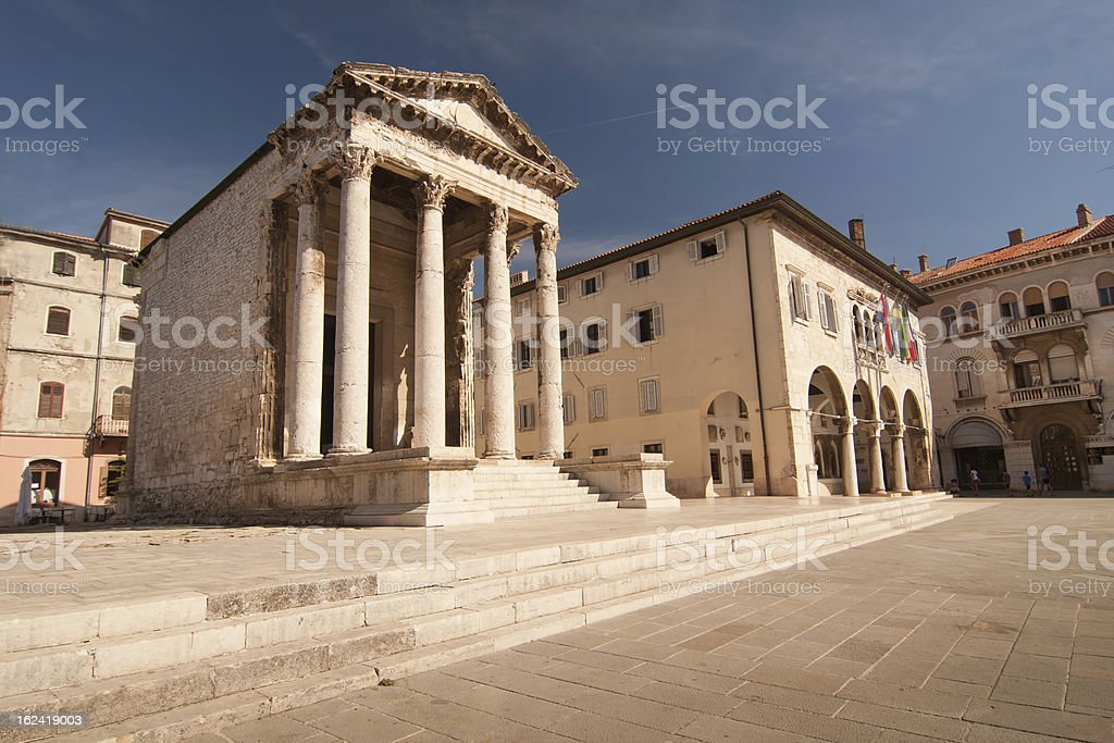 the square in Pula stock photo