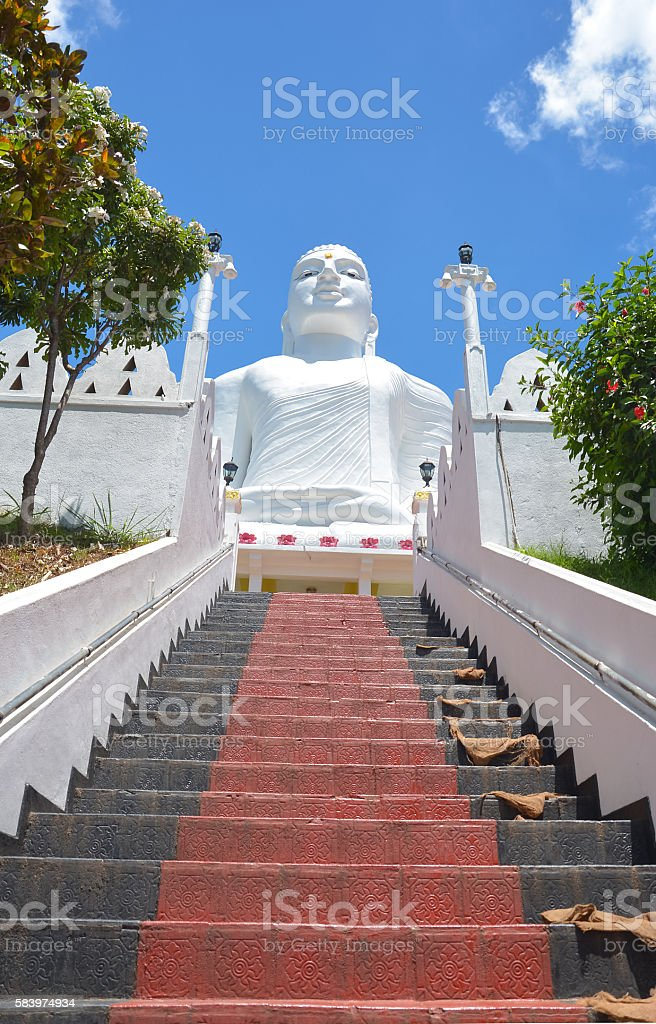 The Sri Maha Bodhi Temple At Bahirawakanda, Kandy stock photo