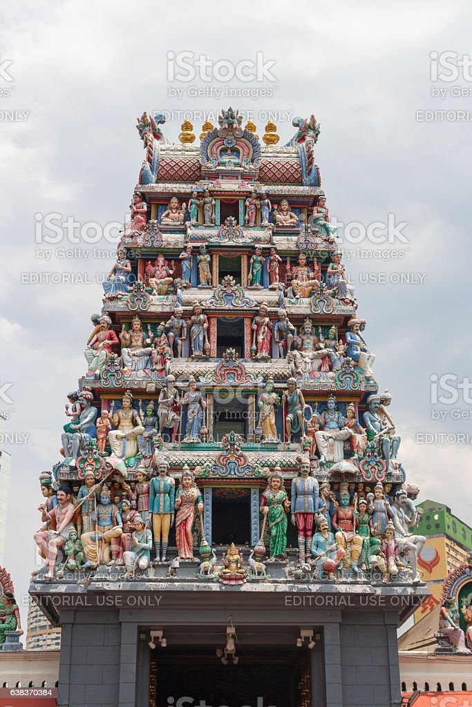 The Sri Mariamman Temple stock photo