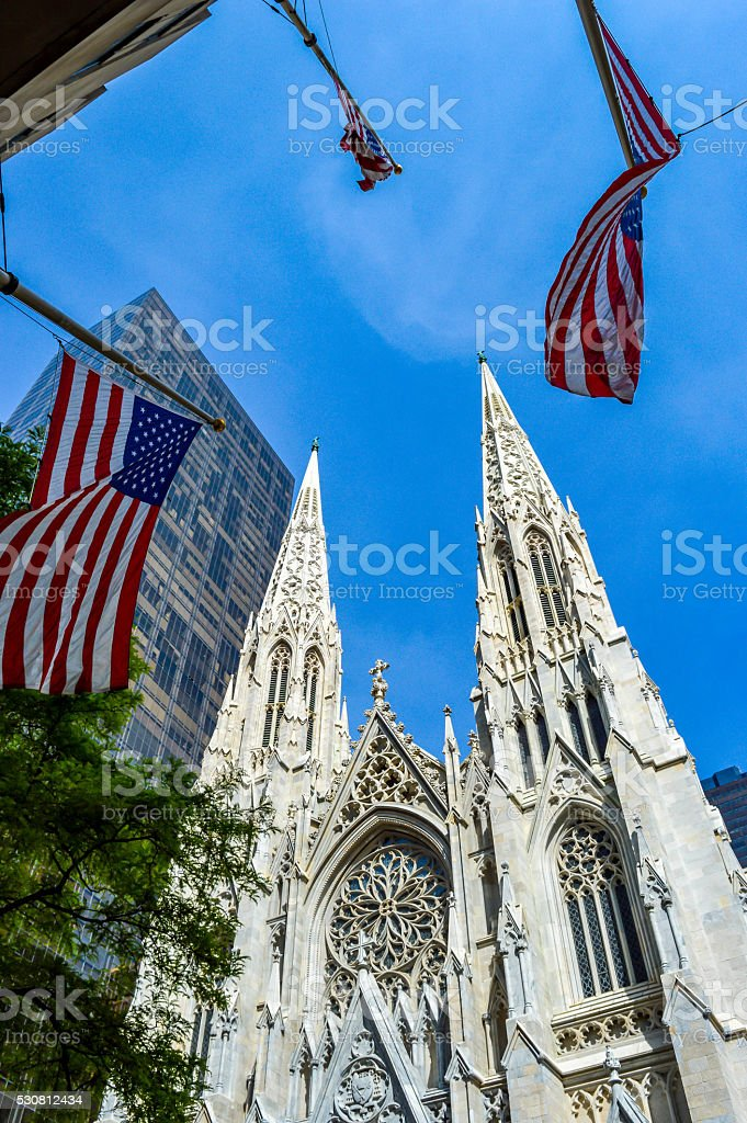 The St. Patrick's Cathedral in New York stock photo