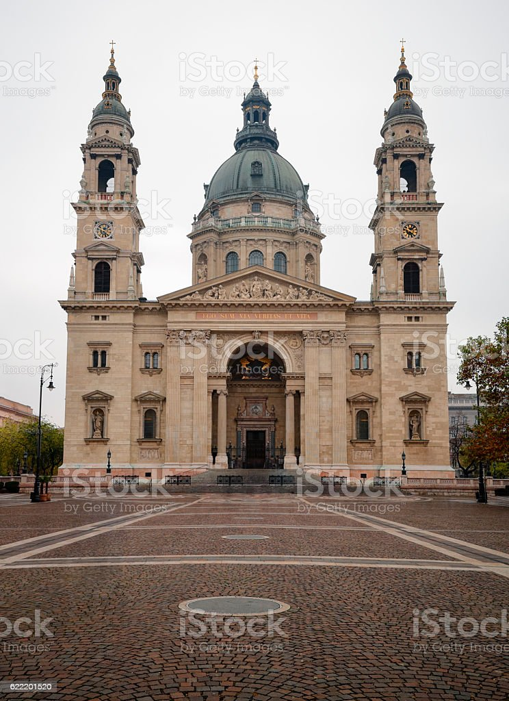 The St. Stephen's Basilica stock photo
