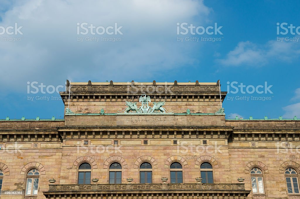 The Staatstheater (State Theater) in Braunschweig, Germany stock photo