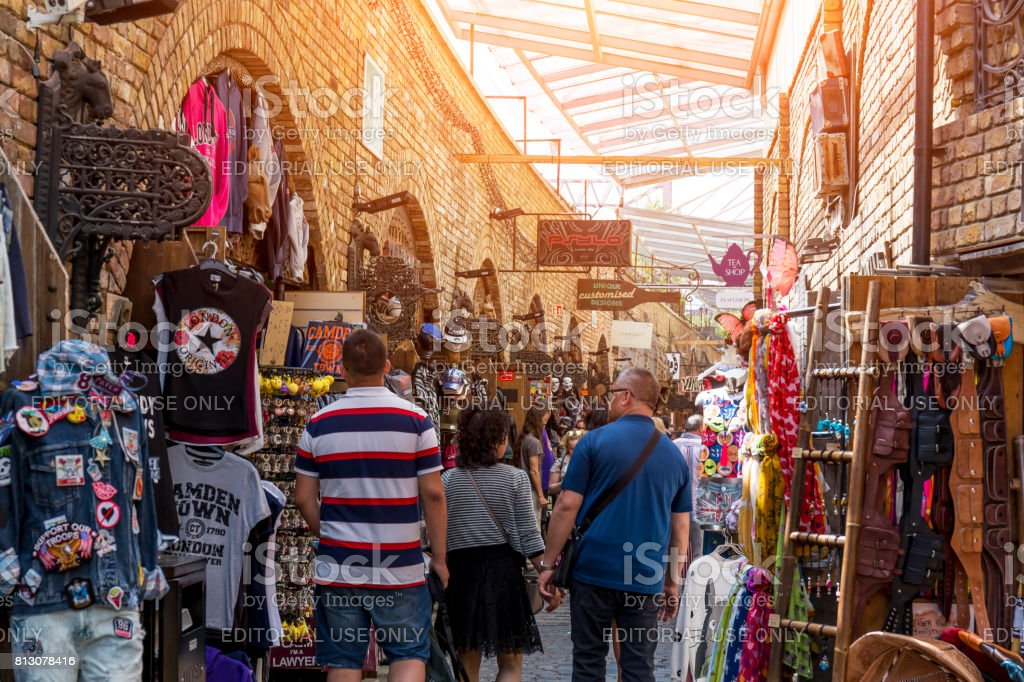 The Stables Market in Camden Town London stock photo