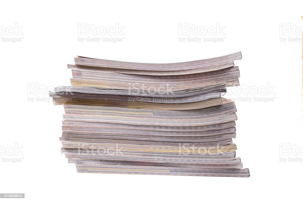 The stack of magazines stock photo