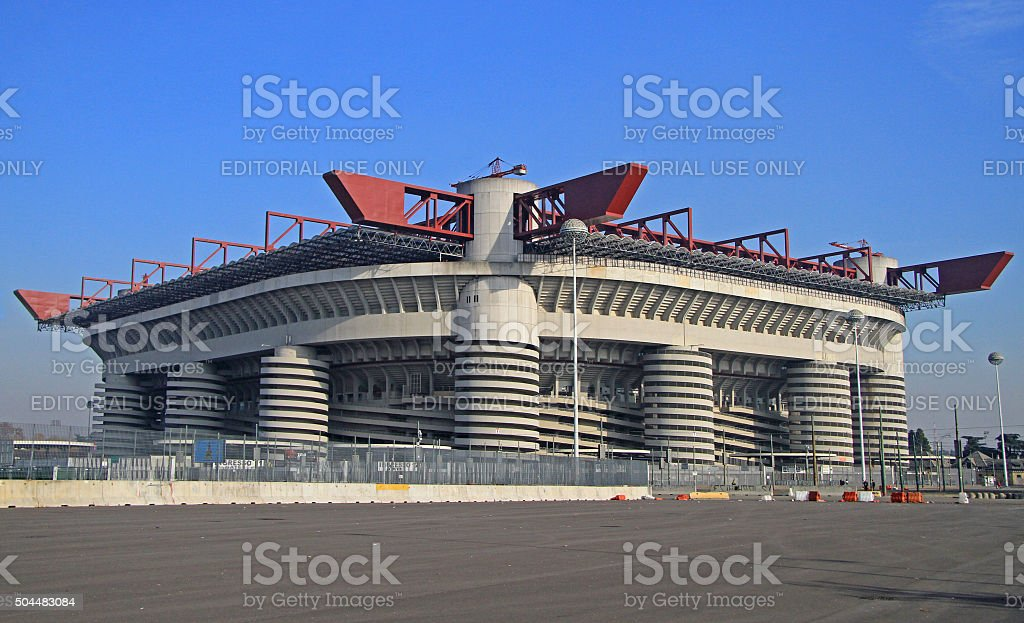 The Stadio Giuseppe Meazza, commonly known as San Siro in stock photo
