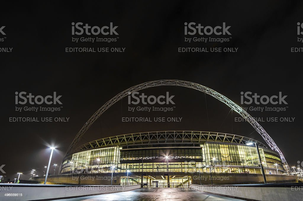 The stadium at night in london stock photo