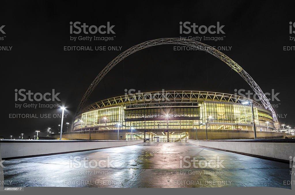 The stadium at night in london. stock photo