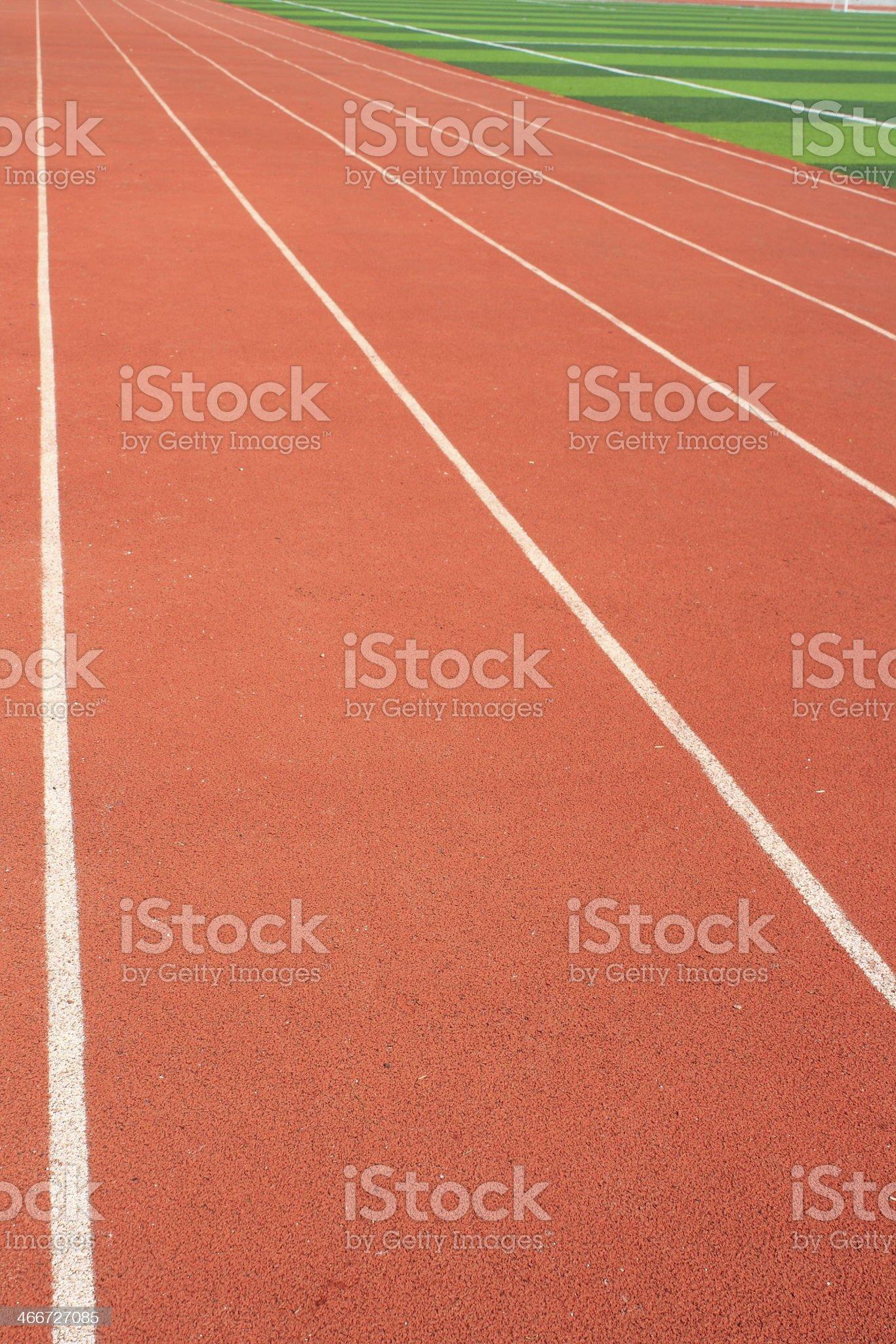 The stadium track royalty-free stock photo