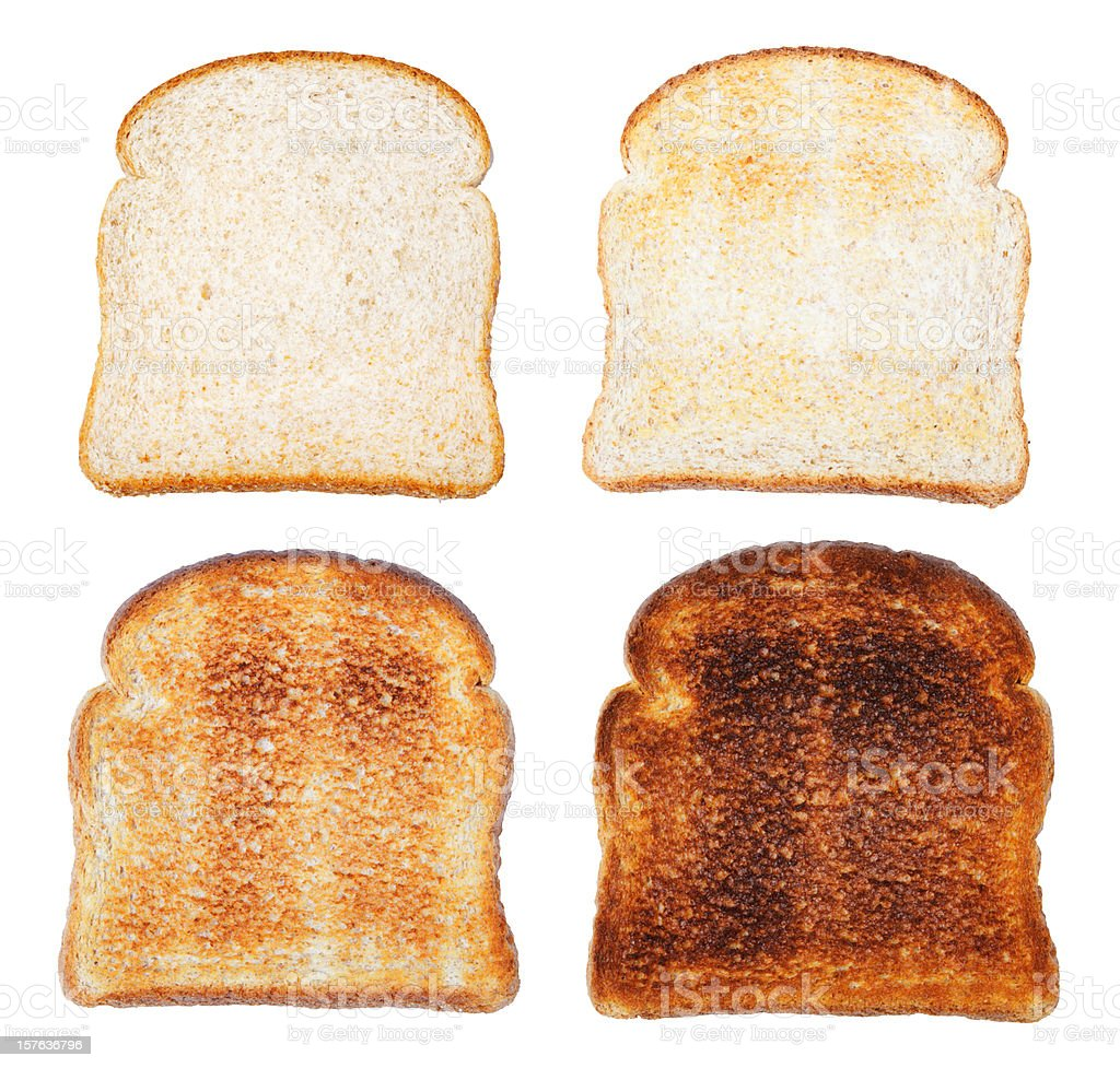 The Stages of Toast stock photo