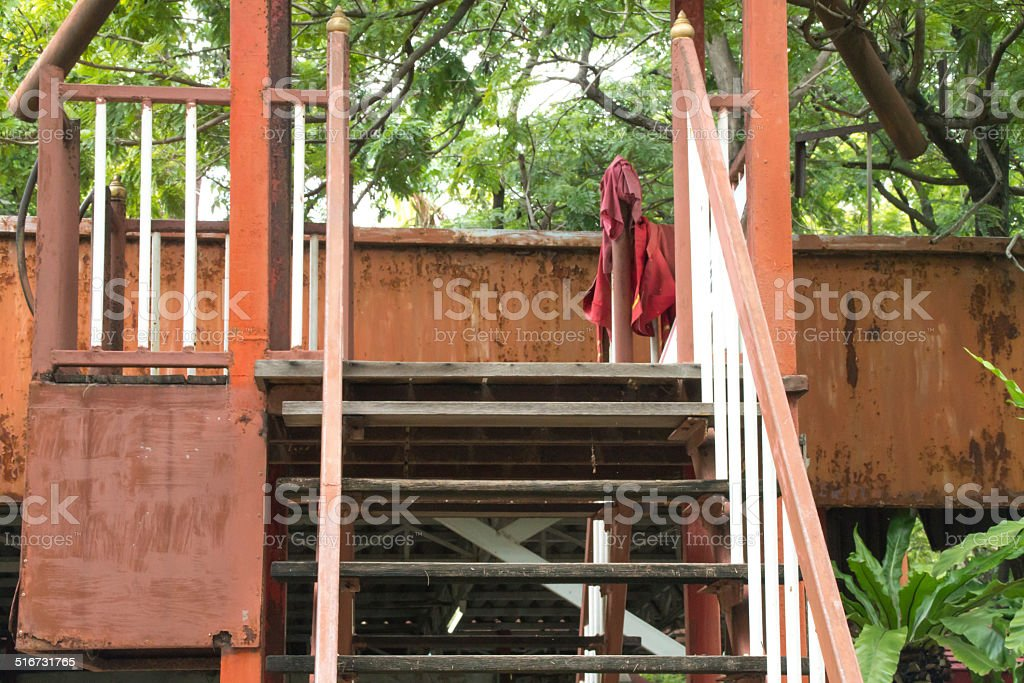 the stair from the crocodile farm stock photo