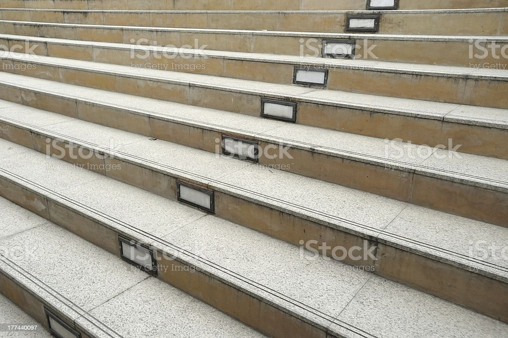 The staircase is made of concrete royalty-free stock photo