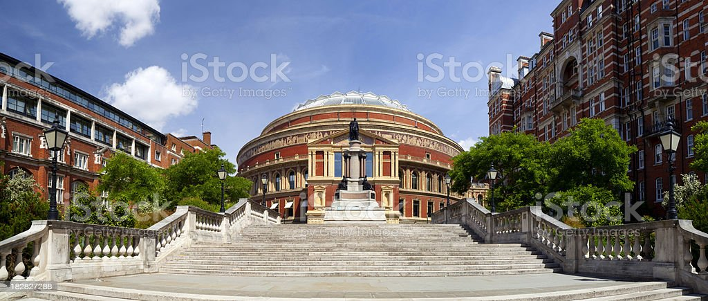 The stairs leading up to Royal Albert Hall stock photo