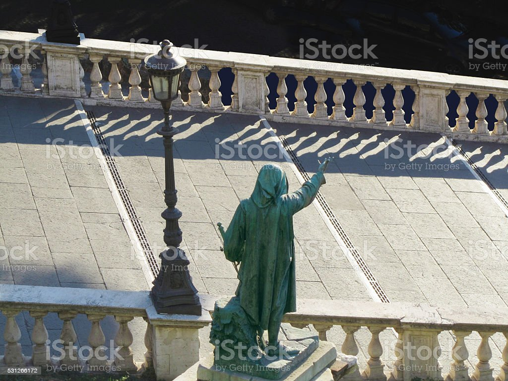 The stairs to the Capitol in Rome, Italy stock photo