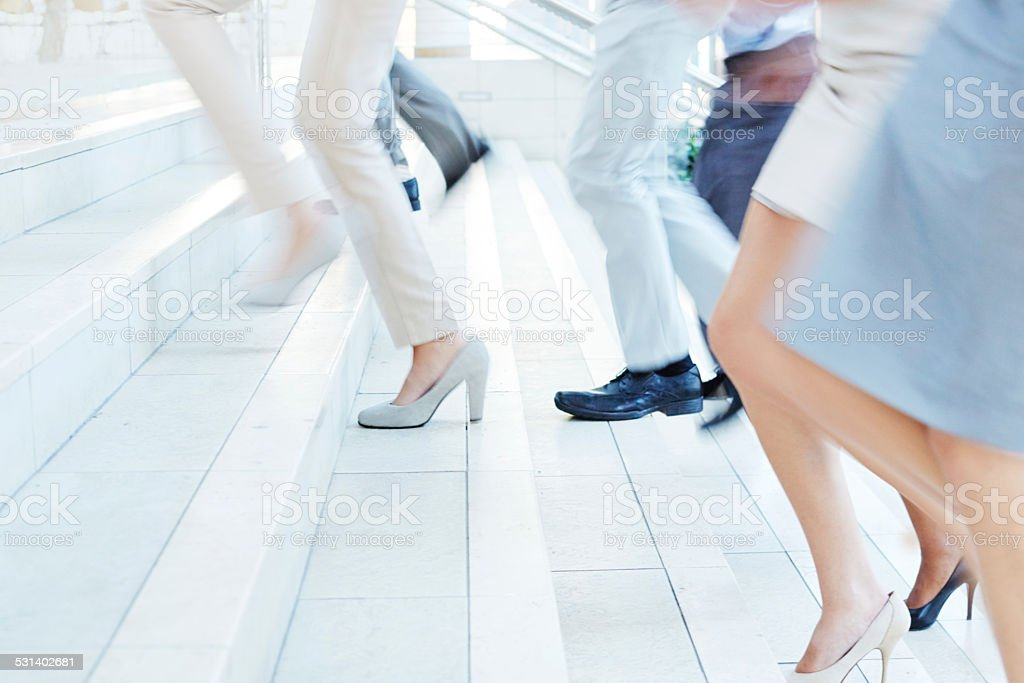 The stairway to success stock photo