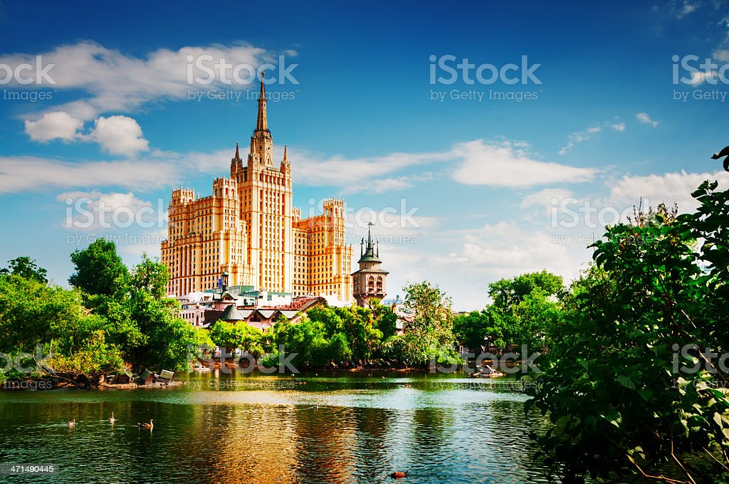 The Stalin`s Time Skyscaper royalty-free stock photo