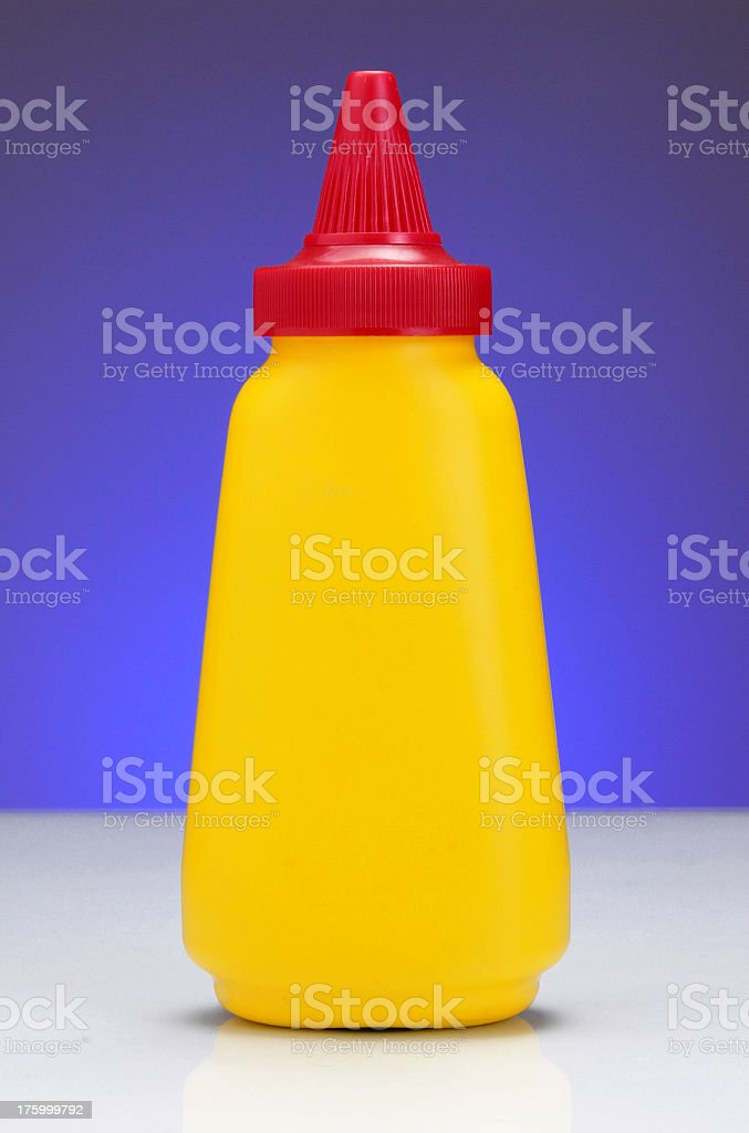 The standard mustard container royalty-free stock photo