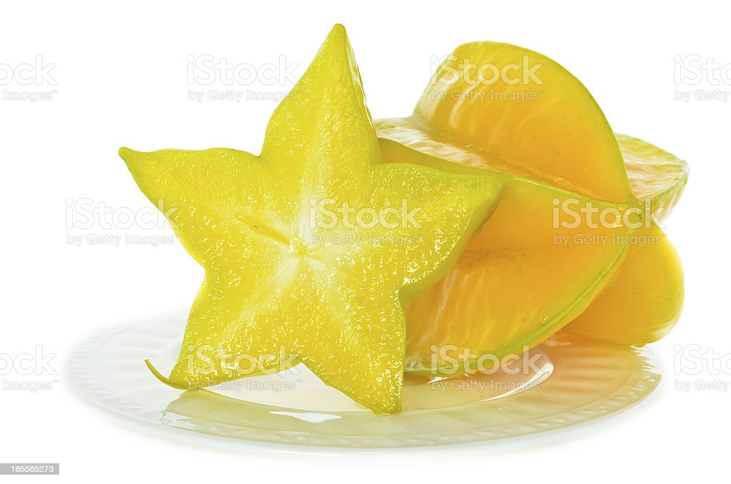 The star fruit is rich in juice. royalty-free stock photo