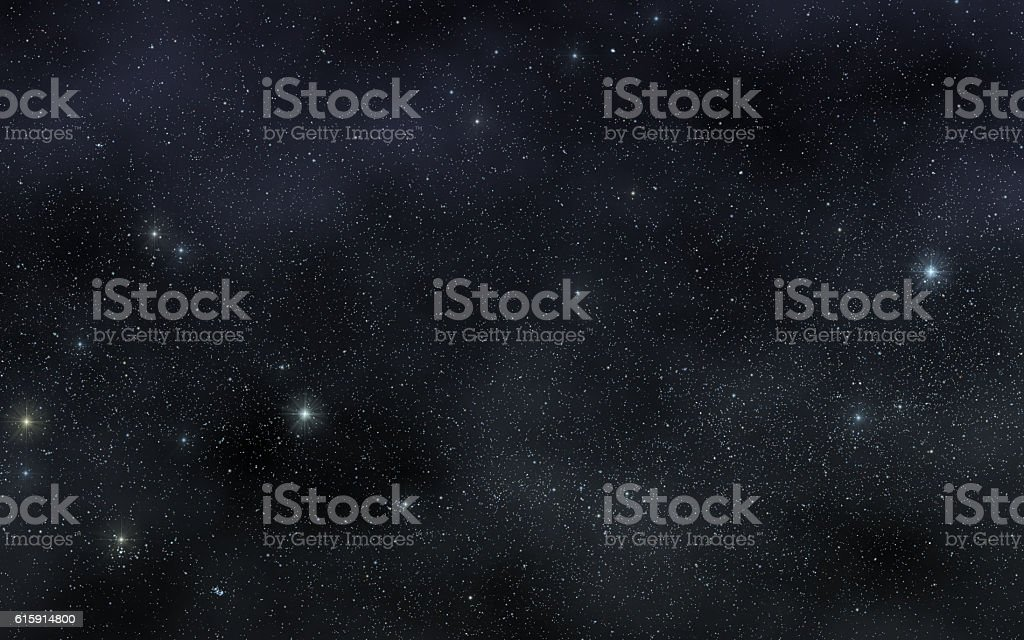 The star sky over  Los Angeles stock photo