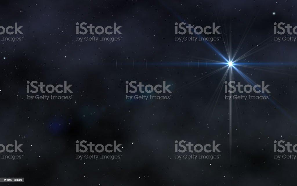 The star sky stock photo