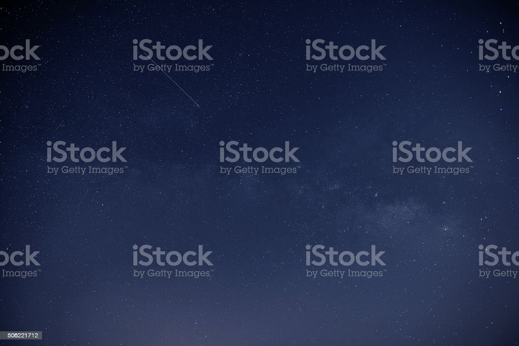 the starry sky milky way stock photo