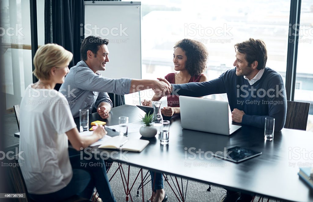 The start of a great business partnership stock photo