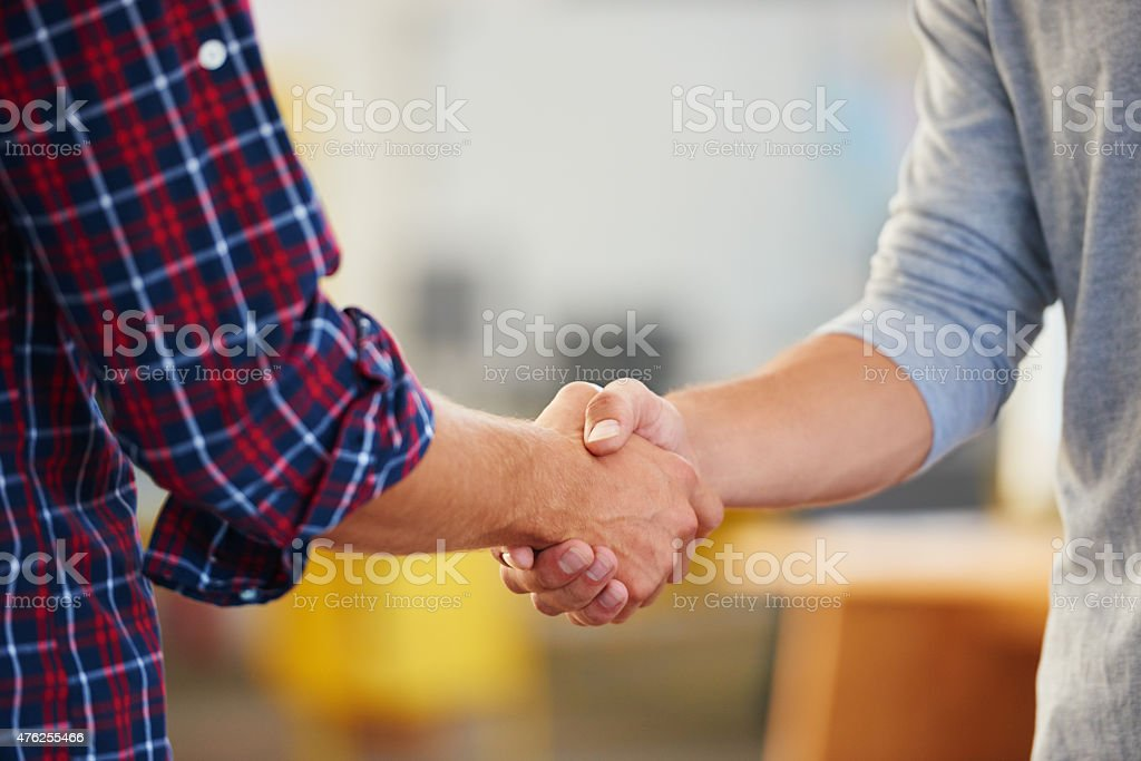 The start of a perfect partnership stock photo