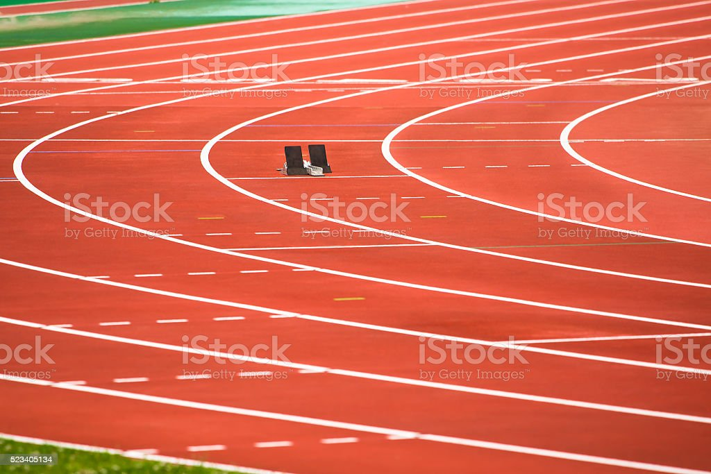 The starting block stock photo