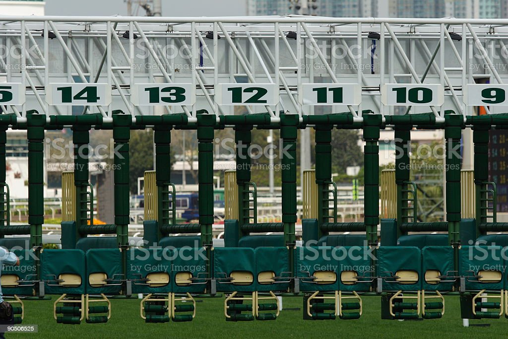 The Starting Gate stock photo
