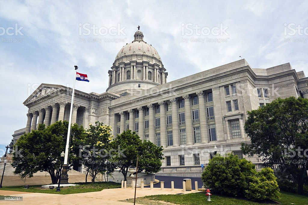 The state Capitol building of Missouri stock photo