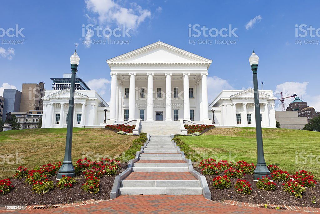 The State Capitol In Richmond, Virginia royalty-free stock photo