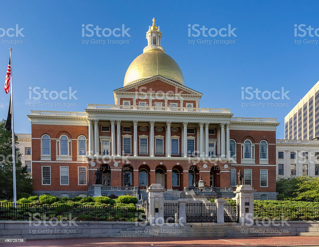 The State House in Boston stock photo