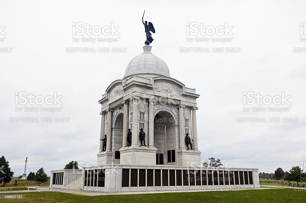 The State Of Pennsylvania Monument At Gettysburg royalty-free stock photo