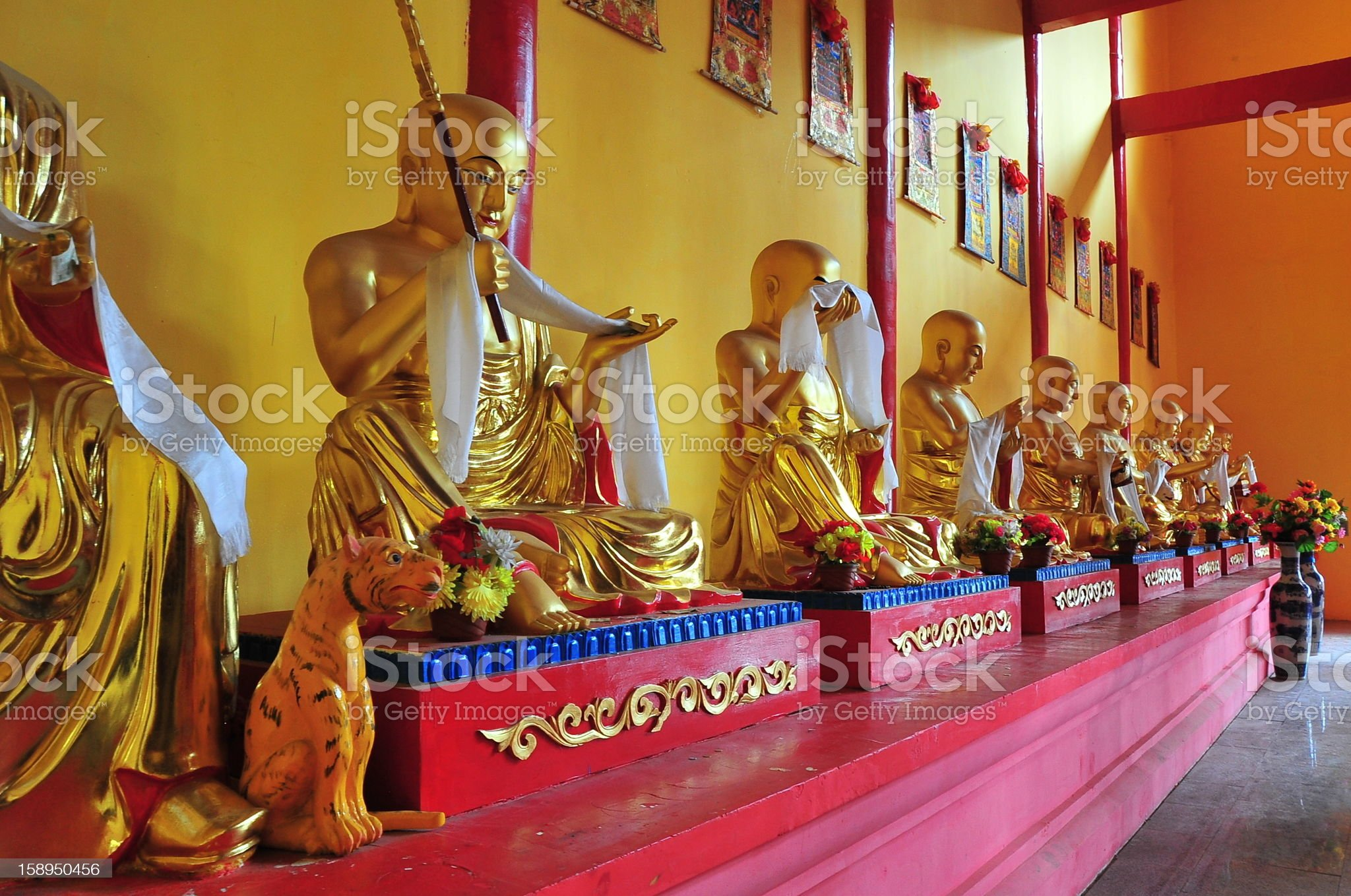 The statue in a Buddhist temple. royalty-free stock photo