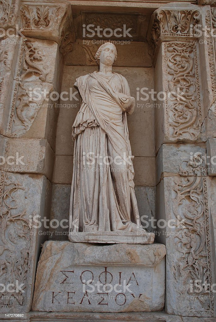 the statue is symbolize of sophia royalty-free stock photo