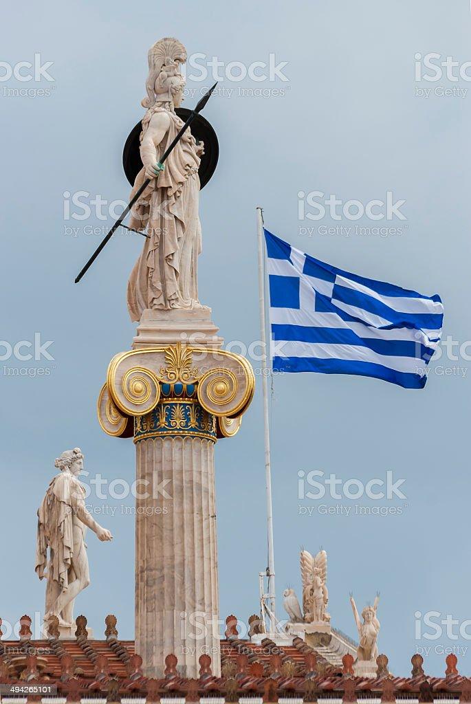 The statue of Athena stock photo