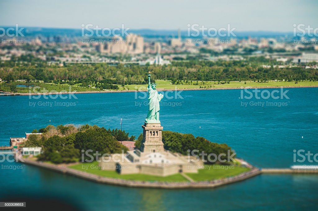 The Statue Of Liberty, Aerial view royalty-free stock photo