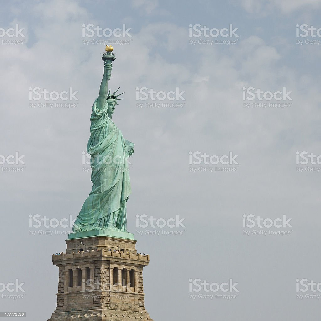 The Statue of Liberty in New York royalty-free stock photo