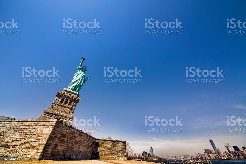 The Statue of Liberty, New York stock photo