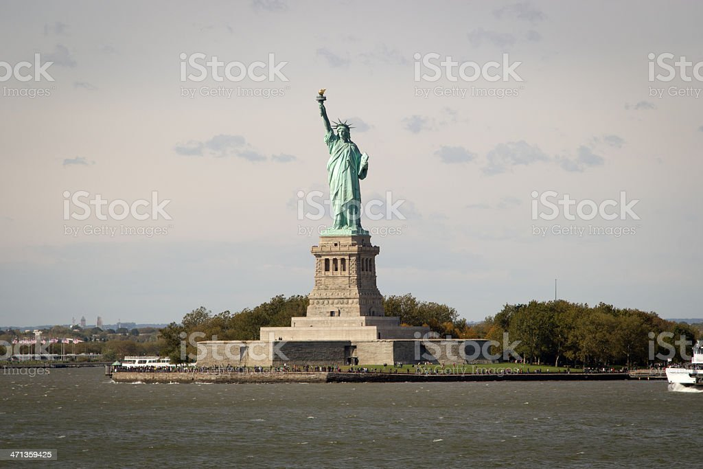 The Statue of Liberty, NYC royalty-free stock photo