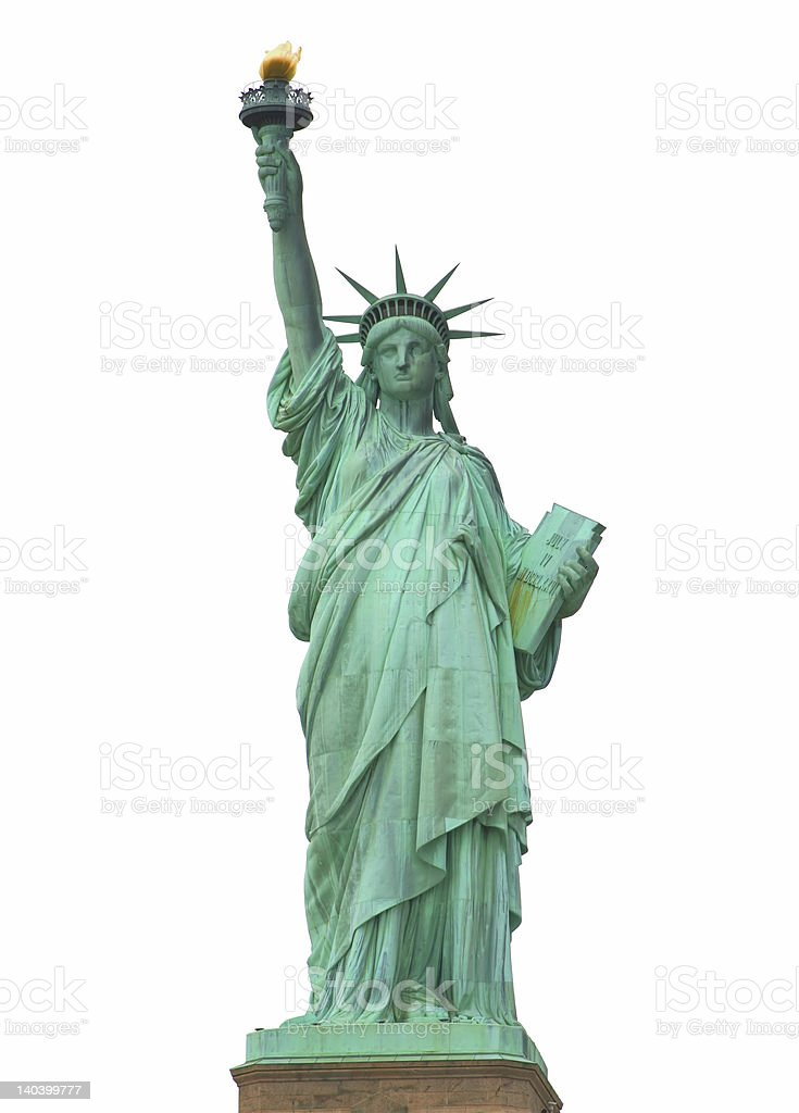 The Statue of Liberty royalty-free stock photo