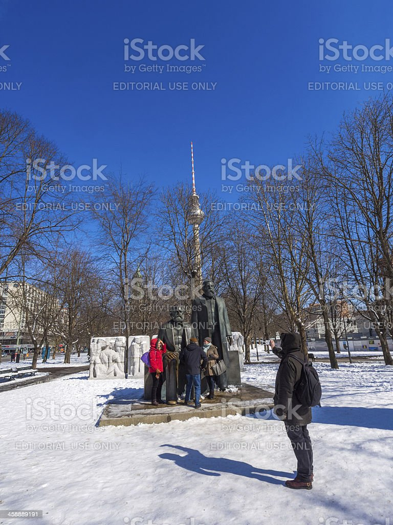 The Statue of Marx and Engels, Berlin, Germany. royalty-free stock photo