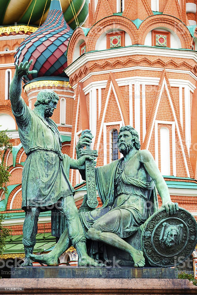 The Statue of Minin and Pozharsky, Moscow stock photo