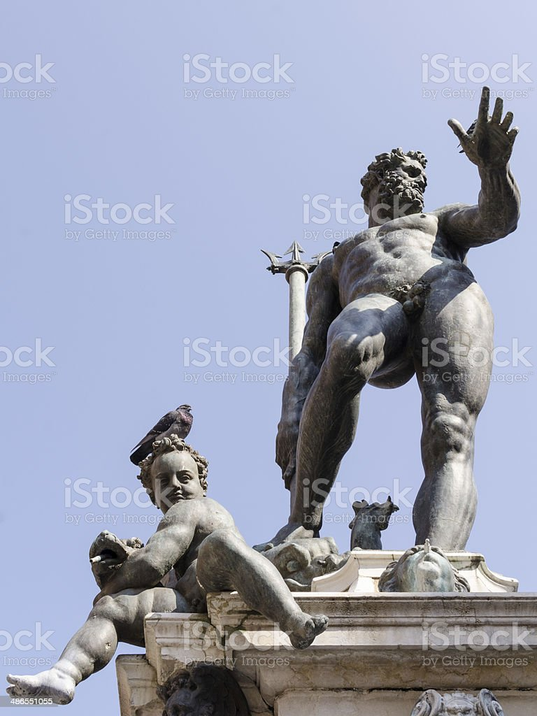 The statue of Neptune in Bologna, Italy stock photo