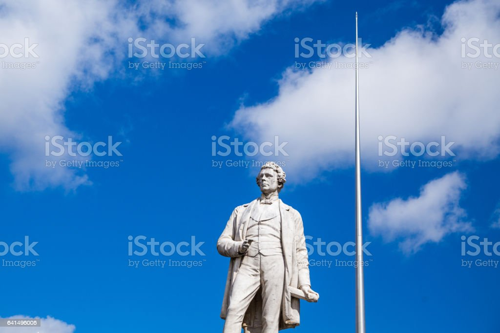 The statue of Sir John Gray on O'Connell Street, Dublin. stock photo