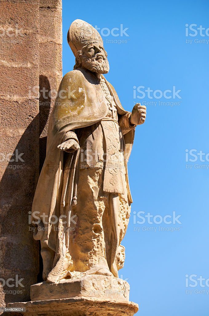 The statue of St. Publius on the corner of the Customs stock photo