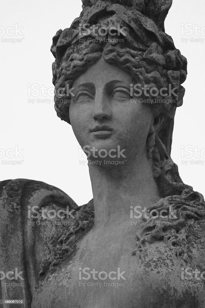 The statue of the goddess Hera stock photo