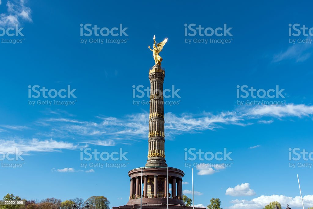 The Statue of Victory in Berlin stock photo