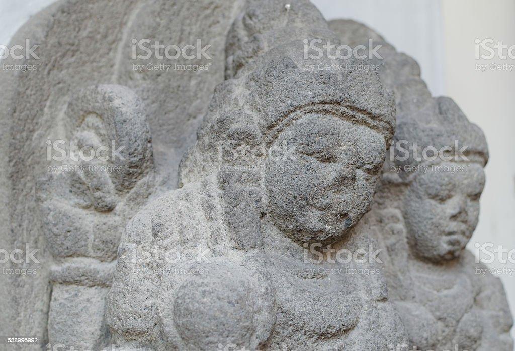 The Statue of Vishnu and Lakshmi stock photo