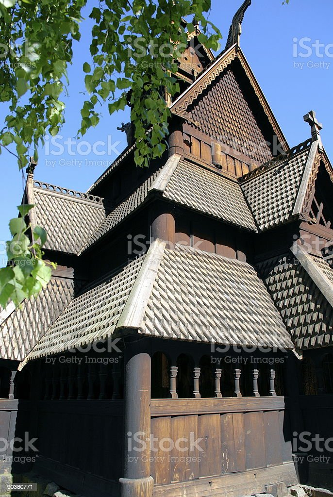The Stave Church royalty-free stock photo